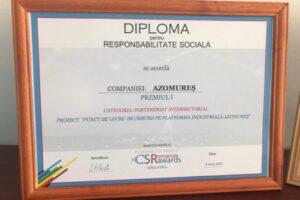 azomures,-premiul-intai-la-csr-romania-awards!