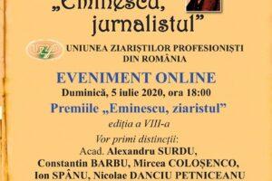 """uniunea-ziaristilor-profesionisti-din-romania-acorda-azi-premiile-""""eminescu,-ziaristul"""""""