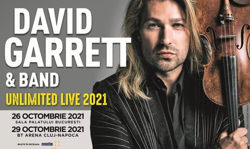 David Garrett 2021 Bucuresti Cluj Napoca