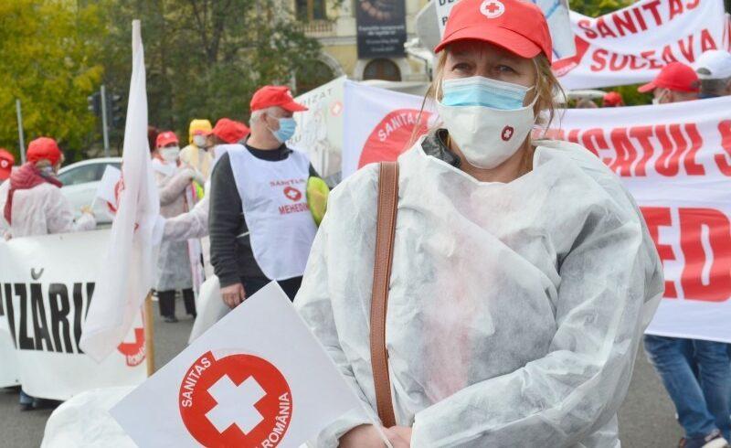 proteste-ale-reprezentantilor-federatiei-solidaritatea-sanitara