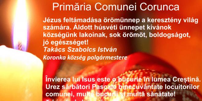 primaria-comunei-corunca,urare-cu-ocazia-sarbatorilor-pascale