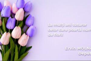 Ervin Molnar La multi ani tuturor muresenilor cu ocazia Floriilor