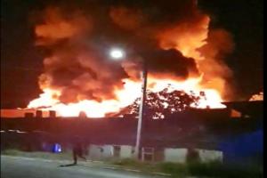 foto/video:-incendiu-la-fabrica-de-mobila-din-localitatea-mureseana-fantanele